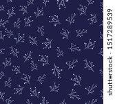 light flat branches on violet... | Shutterstock .eps vector #1517289539