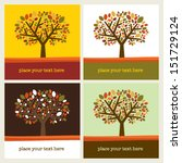 autumn leaf tree vector... | Shutterstock .eps vector #151729124