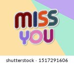 miss you letters banner with... | Shutterstock .eps vector #1517291606