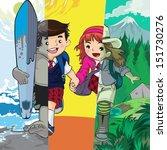 illustrations of boys and girls....   Shutterstock .eps vector #151730276