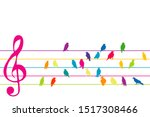 Abstract Colorful Music Stave...