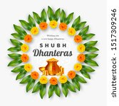 shubh dhanteras holiday... | Shutterstock .eps vector #1517309246