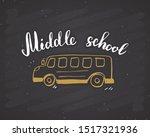 back to school calligraphic... | Shutterstock .eps vector #1517321936
