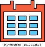 calendar icon on white...