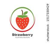 strawberry icon logo vector... | Shutterstock .eps vector #1517330429