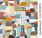 seamless pattern with... | Shutterstock . vector #1517353070