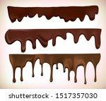 seamless horizontal melted... | Shutterstock .eps vector #1517357030