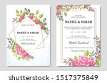 wedding invitation card with...   Shutterstock .eps vector #1517375849