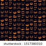 seamless pattern with orange... | Shutterstock .eps vector #1517380310