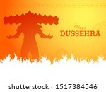 illustration of ravana with ten ... | Shutterstock .eps vector #1517384546