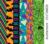 vector collection of halloween... | Shutterstock .eps vector #151738820