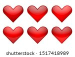 vector illustration  red heart... | Shutterstock .eps vector #1517418989