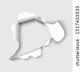 hole torn in ripped white paper.   Shutterstock .eps vector #1517433533