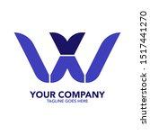 stock vector creative wx letter ... | Shutterstock .eps vector #1517441270