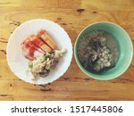 homemade bavarian sausages and... | Shutterstock . vector #1517445806
