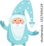 vector illustration santa claus ... | Shutterstock .eps vector #1517454119