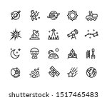 space line icons. planets and...   Shutterstock .eps vector #1517465483