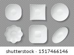realistic food plates. white... | Shutterstock .eps vector #1517466146
