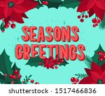 christmas and new year...   Shutterstock .eps vector #1517466836