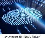 fingerprint scanning technology ... | Shutterstock . vector #151748684