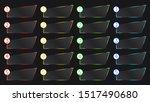 colorful art web neon set frame  | Shutterstock . vector #1517490680