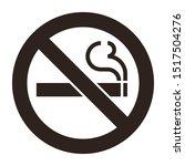 no smoking sign. smoking... | Shutterstock .eps vector #1517504276