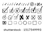 set of hand drawn check signs... | Shutterstock .eps vector #1517549993
