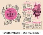dessert menu template for...   Shutterstock .eps vector #1517571839