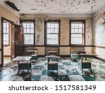 Abandoned Classroom In An Old...