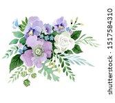 bouquet floral botanical...   Shutterstock . vector #1517584310
