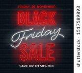 advertisement of black friday... | Shutterstock .eps vector #1517589893