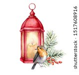 Watercolor Card With Robin ...