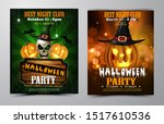halloween party flyer with... | Shutterstock .eps vector #1517610536