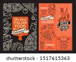 pizza menu template for... | Shutterstock .eps vector #1517615363