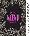 cocktail illustration  ... | Shutterstock .eps vector #1517615366