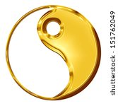 Golden Yin Yang Symbol On A...