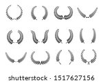 collection of different black... | Shutterstock .eps vector #1517627156