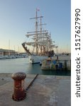 Small photo of La Rochelle, France - september 18 2019 : Old traditional wooden sailing yacht at La Rochelle harbour