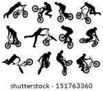 12 high quality bmx cyclist...