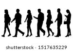 vector silhouettes of  men and... | Shutterstock .eps vector #1517635229