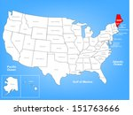 vector map of the united states ... | Shutterstock .eps vector #151763666