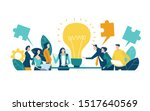 team of professional people... | Shutterstock .eps vector #1517640569
