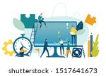 team of professional people ... | Shutterstock .eps vector #1517641673