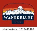 wanderlust   mountain range... | Shutterstock .eps vector #1517642483
