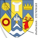 3d County Clare Coat Of Arms ...