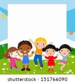kids and frame | Shutterstock .eps vector #151766090