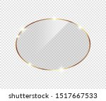 gold shiny glowing frame with... | Shutterstock .eps vector #1517667533