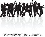 silhouette of a man.vector work. | Shutterstock .eps vector #1517680049