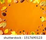 halloween and autumn leaf... | Shutterstock . vector #1517690123