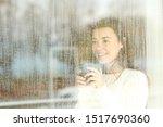 Happy Teen Watching The Rain...